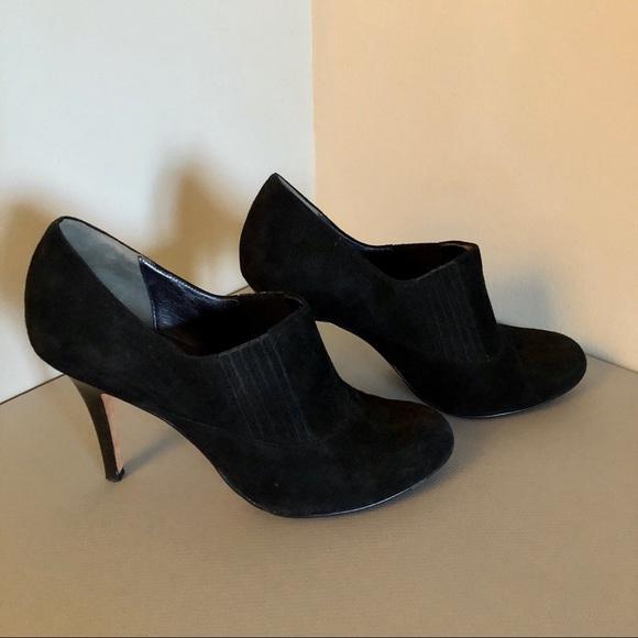 Cole Haan Shoes - Cole Haan Black Suede Heel Ankle Bootie Sz 11 NEW